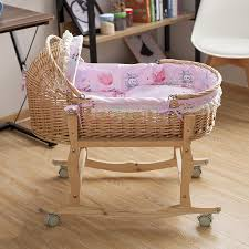 Baby Swing Bed Baby Cradle 100 53cm Straw Baby Sleeping Basket