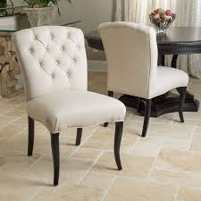 Amazon.com - Jaelynn Beige Pattern Fabric Dining Chairs (Set Of 2 ...