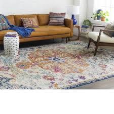 Hillsby Saffron Blue Area Rug