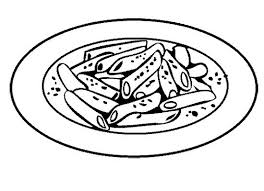 Pasta clipart black and white