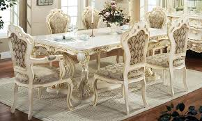 Country Style Table Dining Room With Bench And Chairs Kitchen Round