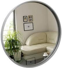 bd rund spiegel wandspiegel 50cm durchmesser holz grau