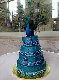 Wedding Cake Peacock Cathy s Sweet Creations