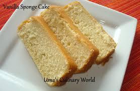 Uma s Culinary World Eggless Sour Cream Vanilla Sponge Cake