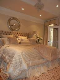 Cream Orange Paint Wall Color Glamorous Bedrooms With White Bedding And Soft Grey Tufted Headboard In Fascinating Decoration