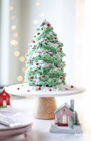 Tree Shaped Gingerbread Cake For Christmas