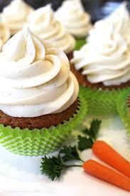 Carrot Cake Cupcakes W Vanilla Bean Cream Cheese Frosting