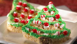 Trimmed Christmas Treats Are A Fun Way To Bring The Colors Of Holiday Your Dessert Table Click For Recipe From Official Rice Krispies