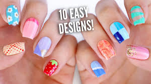Nail Arts. Easy Nail Art Designs For Beginners - Nail Arts And ... Simple Nail Art Designs To Do At Home Cute Ideas Best Design Nails 2018 Latest Easy For Beginners 5 Youtube Short Step By For Tutorials Inspiring Striped Heart Beautiful Hand Painted Nail Art Cute Simple 8 Easy Flower Nail Art For Beginners French Arts Brides Designs At Home Beginners