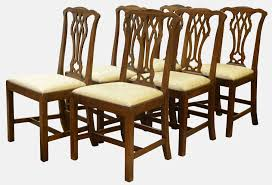 100 Dining Chairs Country English Style Set Of 6 Chippendale C1880 B5222