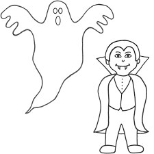 Filled With Horror Vampire Coloring Pages