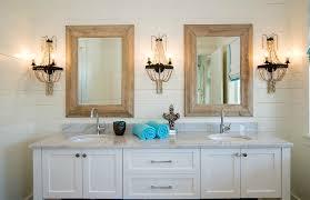 bathroom ideas ultra modern framed bathroom mirror with two wall