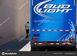 100 Bud Light Truck San Francisco Usa July 2011 Blue Delivery Stock
