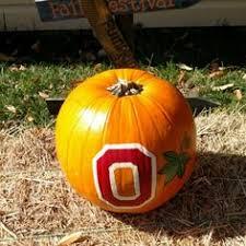 Ohio State Brutus Pumpkin Stencil by Painted Ohio State Pumpkin Halloween Pinterest
