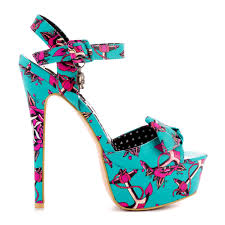 iron fist love me now turquoise rockabilly high heel platform