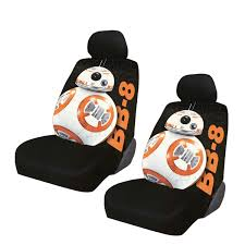 Betty Boop Seat Covers And Floor Mats by New 2pc Set Star Wars Bb 8 Bb8 Car Truck Front Seat Covers With