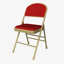 Cushion Folding Chair 3D Model