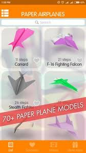 Cool Paper Airplanes Folding Poster