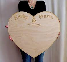 Wedding Guestbook Alternative Personalized Extra Large Wood Custom Engraved Board Unique Guest Book Rustic 2371720