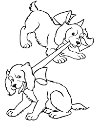 Dog Chasing Cat Coloring Pages Free Page And Kitty