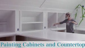 Insl X Cabinet Coat by Painting Cabinets And Countertop Youtube