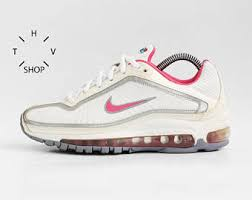 NOS Vintage Nike Air Max Medallion GS Sneakers White Silver Pink Trainers Deadstock