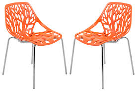 Modern Asbury Dining Chair With Chromed Legs - Orange, Set Of 2 Saddle Leather Ding Chair Garza Marfa Jupiter White And Orange Plastic Modern Chairs Set Of 2 By Black Metal Cafe Fniture Buy Eiffel Inspired White Orange With Legs Grand Tuscany Total Sizes Wd325xh36 Patio Urban Kitchen Shop Asbury With Chromed Velvet Vivian Of World Market Industrial Design Slat Back Products Flash Indoor Outdoor Table 4 Stack