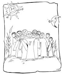 Print Coloring Jesus And The 12 Disciples Page On Pictures Of