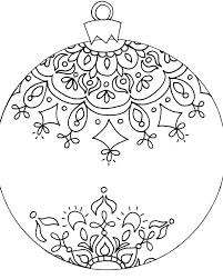 Download Coloring Pages Christmas Decorations Ornament Page Archives Free For