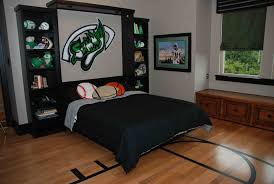 Cool Bedroom Ideas For Guys With Football Walls And Interior Decorator