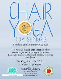 Chair Yoga For Seniors At My Yoga Space, Kentville (October 20 ... Yoga For Seniors Youtube Actively Aging With Energizing Chair Get Moving Best Of Interior Design And Home Gentle Midlifers Look No Hands Exercises For Ideas Senior Fitness Cerfication Seniorfit Life 25 Yoga Ideas On Pinterest Exercises Office Improve Your Balance Multimovements Led By Paula At The Y Ymca Of Orange County Stay Strong Dance Live Olga Danilevich Land Programs Dorothy C Benson Multipurpose Complex Tai Chi With Patience