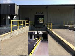 Truck Smashes Handrail At Loading Dock | GEF, Inc. Home Nova Technology Loading Dock Equipment Installation Lifetime Warranty Tommy Gate Railgate Series Dockfriendly Mson Tnt Design The Determine Door Sizes Blue Truck At Image Scenario Cpe Rources Dock With Truck Bays In Back Of Store Stock Photo Ultimate Semi Back Up Into Safely Reverse Drive On Emsworth Ptoons And Floating Platforms Inflatable Shelter Stertil Products Freight Semi Trucks Cacola Logo Loading Or Unloading At
