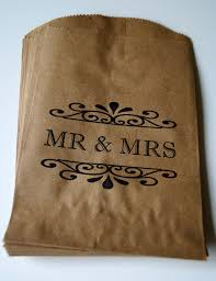 50 Mr Mrs Candy Bags Wedding Cake Station