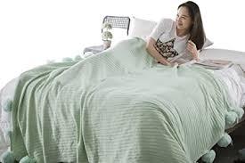 baumwolle gestrickte decke weiches sofa bettwäsche
