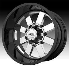100 Black And Chrome Rims For Trucks Moto Metal MO962 PVD Gloss Custom Wheels