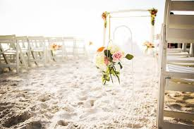 Ivory And Pink Wedding Ceremony Aisle Flowers In Glass Jar Vase Shepard Hook At Hilton