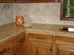 Heres A Simple Beige Colored Kitchen Backsplash With Granite Countertop And Oak Cabinets Description From Backsplashphotos I Searched For