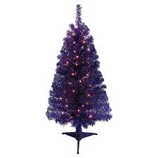 Meijer Home Wall Decor by December Home 4 Pre Lit Purple Tinsel Christmas Tree Meijer Com