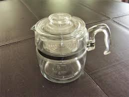 Vintage 1950s Pyrex Flameware Glass 7756b Percolator Complete Coffee Pot 6 Cup