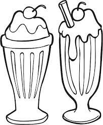 Milkshake Ice Cream Soda Ice Cream Line Art Clip Art Vector
