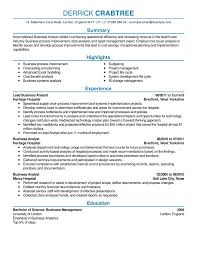 Business Analyst Resume Example Contemporary 5 Full For How To Write A Examples