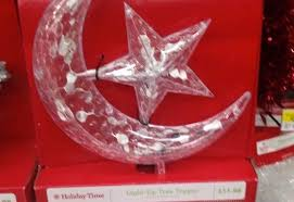 Walmart Selling Islamic Crescent Moon And Star Ornament For Tops Of Christmas Trees