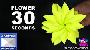 Easy Origami Flower Making 30 Seconds Instruction