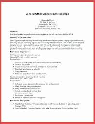 Office Clerk Resume Sample Ordinary Job Description For Megakravmaga