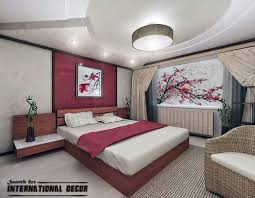 Japanese Bedroom Style False Ceiling