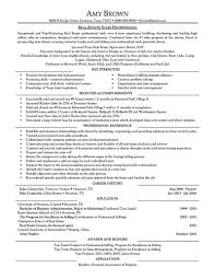Entry Level Real Estate Agent Resume New Sales Template Inside Sample Memo Example