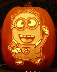Minion Pumpkin Carvings by Here U0027s A Stoneykins Com Minion Pattern I Carved On A Foam Pumpkin