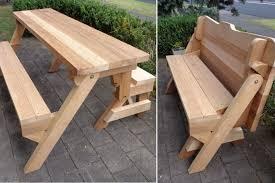 diy convertible picnic table bench bench decoration