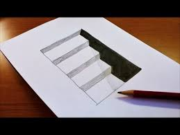 Very Easy How To Draw 3D Hole Stairs For Kids