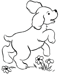 Dog Coloring Pages Cute Dogs For Kids Printable